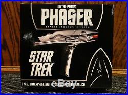 Star Trek Metal Plated Phaser QMx 2009 Movie Stunt Phaser Replica