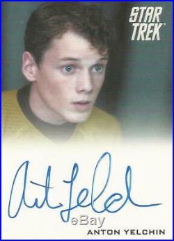 Star Trek Movie 2009 Anton Yelchin Chekov Autograph Card