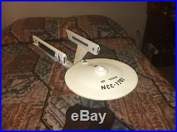 Star Trek Movie USS Enterprise Spaceship NCC-1701 1979 Wood Model Folk Art