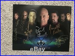 Star Trek Nemesis Movie 8x10 Cast Photo Signed by 6! Patrick Stewart + more