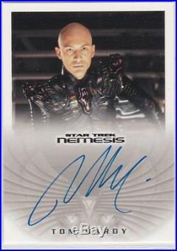 Star Trek Nemesis Movie Na3 Tom Hardy As Shinzon Autograph Eddie Brock Venom