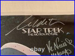 Star Trek The Motion Picture 12x18 Poster Signed By 5! Shatner Nichols Takei