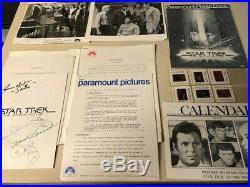 Star Trek The Motion Picture (1979) Press kit withPhotos Slides Etc 5 Cast-Signed