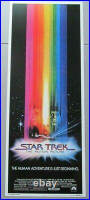 Star Trek The Motion Picture Original Rolled Insert 14x36 Movie Poster 1979 Sci