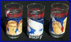 Star Trek The Motion Picture Set Of 3 Glasses Coca-cola 1979, N. Mint-mint, Rare