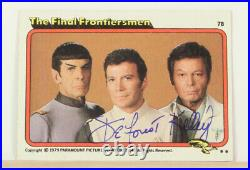 Star Trek The Motion Picture Signed Autograph Topps Card DeForest Kelly