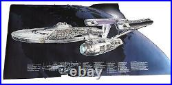 Star Trek The Motion Picture USS Enterprise 48 X 22 Cutaway Poster
