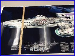 Star Trek The Motion Picture USS Enterprise 66 X 36! Giant Cutaway Poster