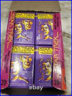 Star Trek-The Motion Picture Un-opened Wax Box Topps, Movie Cards 1979