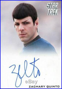 Star Trek The Movie 2009 Zachary Quinto as Spock Limited Autograph Card