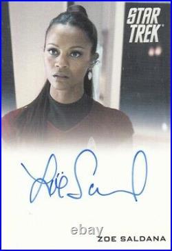 Star Trek The Movie 2009 Zoe Saldana as Uhura Auto Autograph Card