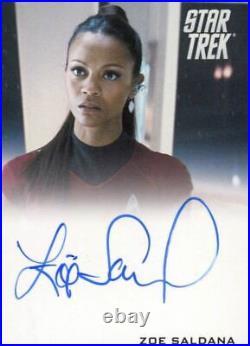 Star Trek The Movie 2009 Zoe Saldana as Uhura Limited Autograph Card