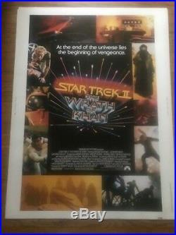 Star Trek The Wrath Of Khan 1982 Nss Original Movie Poster