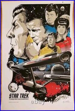 Star Trek To Boldly Go San Diego Comic-con Sdcc Movie Poster Budich Mondo #/500