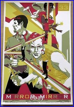 Tomer Hanuka STAR TREK Poster Mondo Movie Screen Print MIRROR MIRROR Stout Kurtz