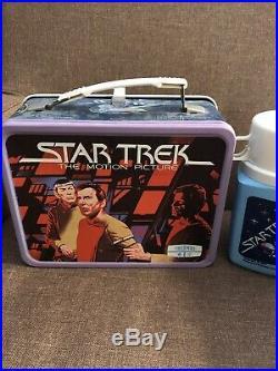 VINTAGE 1980 Star Trek Motion Picture Metal Lunchbox & Thermos C9+ R6 NR
