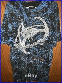 Vintage Retro 90s Movie Star Trek Deep Space Nine Shirt XL All Over Print Spock