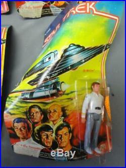 Vintage Star Trek Figure Lot The Motion Picture Complete Crew Error Card